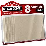 Meubilair Pads X-PROTECTOR - 8 Vilten Vellen 20x15 cm - Premium Vilten Pads - Vloerbeschermers voor Meubelpoten - Enorme hoev