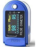 Ossimetro da Dito,Pulsossimetro da Dito Professionale, Sensore Digitale di Ossigeno Nel Sangue e Pulsazioni, con Allarme…