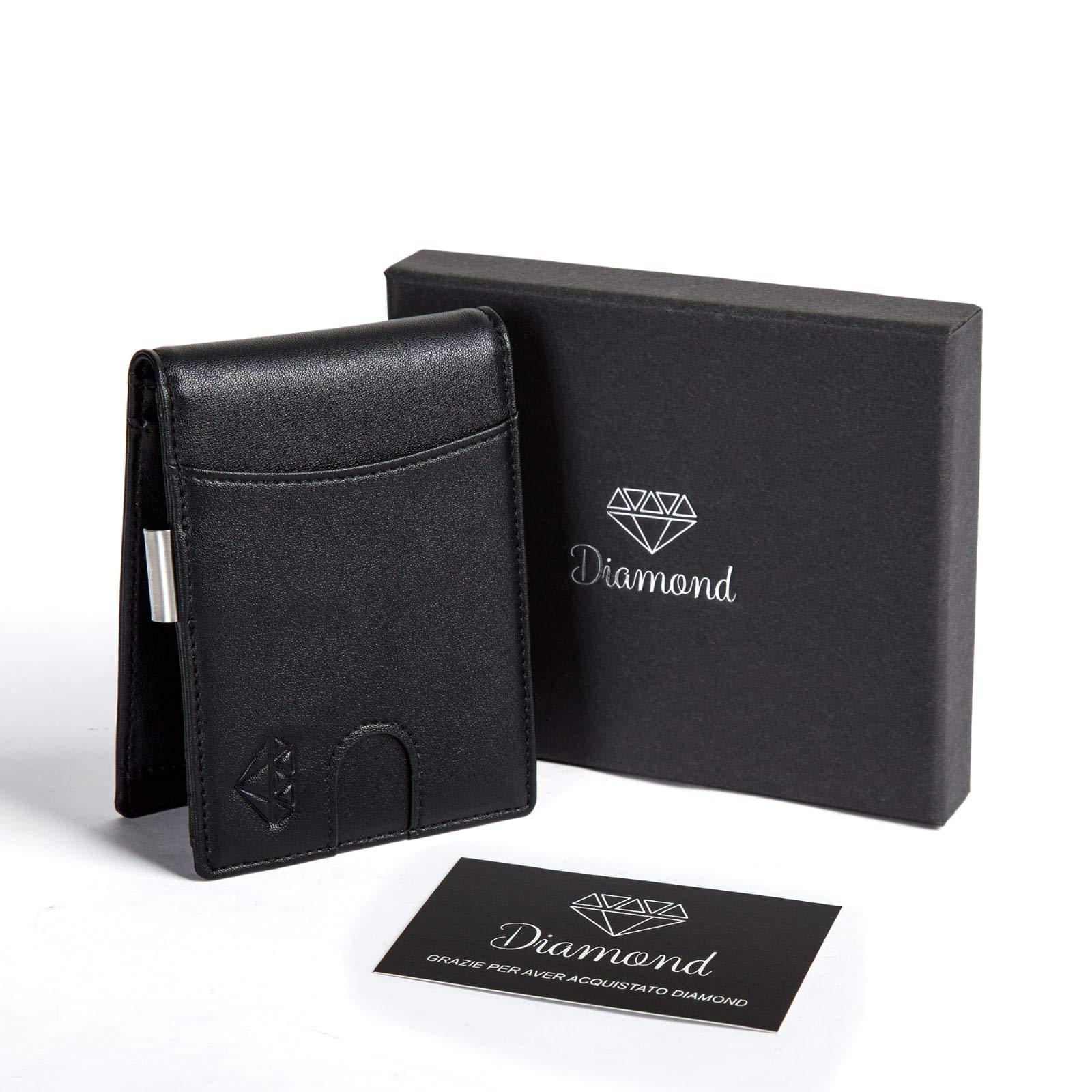 4913f705f17b27 Portafoglio uomo DIAMOND piccolo con protezione RFID con Clip per ...