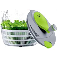 Kalokelvin  Centrifuga per insalata in plastica da 4 litri  facile da utilizzare  per lavare e asciugare le verdure