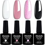 Allenbelle Smalto Semipermanente Nail Polish UV LED Gel Unghie (Kit di 4 pcs 7.3ML/pc) 029