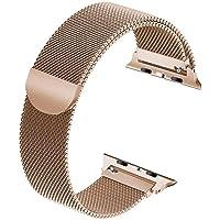Tervoka Ersatzarmband kompatibel mit Apple Watch Armband 40mm 38mm, Metal Edelstahl Armband mit Magnet kompatibel mit…