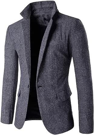 KJHSDNN Men Suit Blazer Jacket Casual Slim Fit One Button Prom Tuxedo Coat Outwear