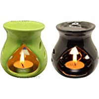 KC Kullicraft Ceramic Aroma Diffuser Oil Burner Clay Lamp Wax Warmer Tea Light Holder for Home Décor, Free 1 Candle Tea…