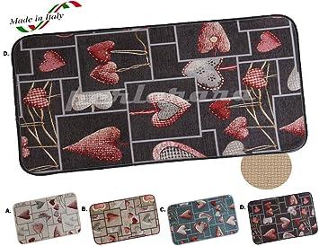tappeto cucina moderno love multiuso passatoia cuori lavabile in ... - Tappeto Cucina Moderno