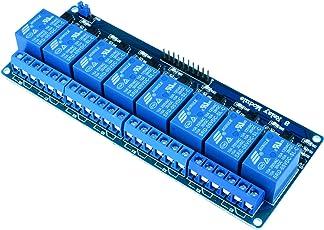 Kuman Relay Shield Module 8 Kanäle Relais Modul Brett 5V für Arduino UNO 2560 1280 PIC DSP AVR ARM STM32 Raspberry Pi DSP K30