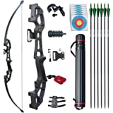 D&Q Archery Set Adult Bow and Arrow Set Adult Takedown Recurve Bow Hunting Bow Target Practice Competition Survival…