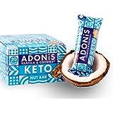 Adonis Low Sugar Nut Bar - Barritas de Coco Crujiente Sabor a Vainillia | 100% Natural, Baja en Carbohidratos, Sin Gluten, Ve