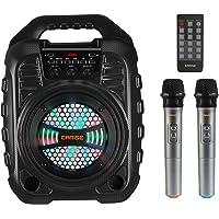 EARISE T26 Pro Karaoke-Maschine mit 2 drahtlosen Mikrofonen, tragbares PA-System, Bluetooth PA-Lautsprecher mit LED…
