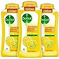 Dettol Body Wash and Shower Gel, Refresh - 250ml Each (Buy 2 Get 1)