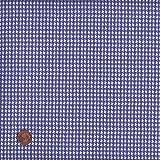 100% Baumwolle Stoff | Blau | Hahnentritt | Stoffbreite: