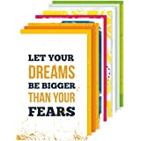 Amazon Brand - Solimo Wall Posters with Adhesive Tape, Set of 10 Motivational Posters