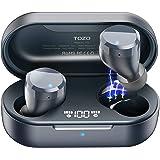 TOZO T12 Trådlösa öronproppar Bluetooth-hörlurar med beröringskontroll och trådlöst laddningsfodral digital intelligens LED-d