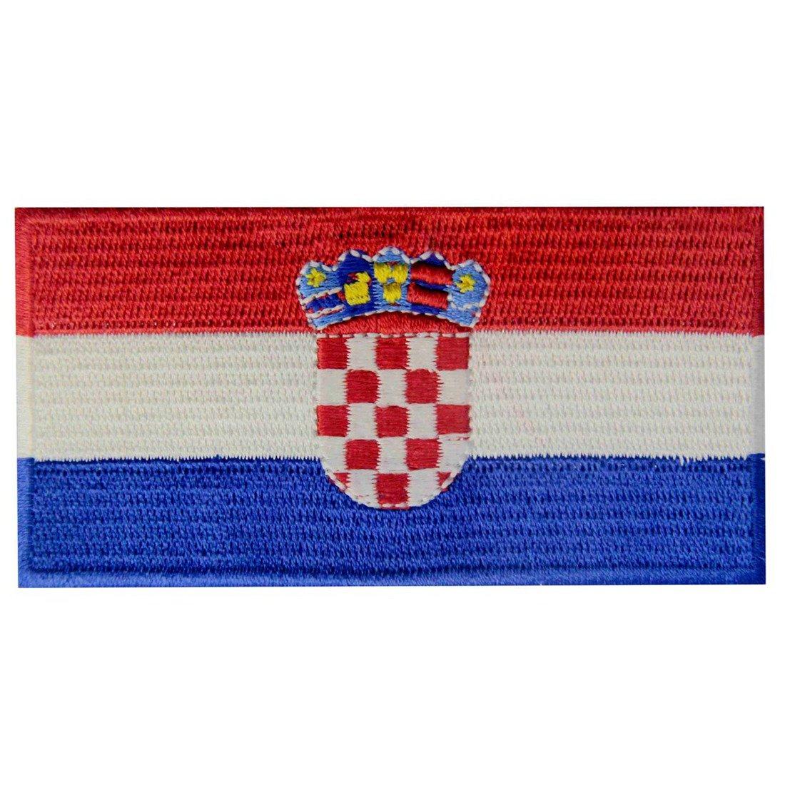 Kroatien Flagge Bestickter kroatisch Aufnäher zum Aufbügeln/Annähen
