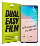 Ringke Dual Easy Film Compatible with High Resolution Easy Application Case Friendly Screen Protector for Galaxy S 10 Plus