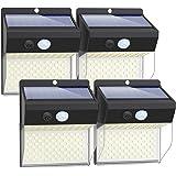 Litogo Luz Solar Exterior 172 LED【4 Pack / 3 Modos】con Sensor de Movimiento, Luces LED Solares Exteriores 270º lluminación Fo