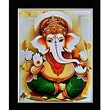 Shree Handicraft Lord Ganesha Painting Photo for Wall (29 x 24.5 x 1 cm,Acrylic Sheet, Black)