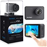 AKASO V50 Pro Native 4K30fps 20MP WiFi Action Camera with EIS Touch Screen 100 feet Waterproof Camera Web Camera Support Exte