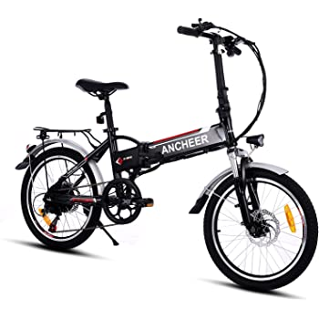 ancheer elektrofahrrad faltbares e bike 20 zoll klapprad pedelec mit lithium akku 250w 36v. Black Bedroom Furniture Sets. Home Design Ideas
