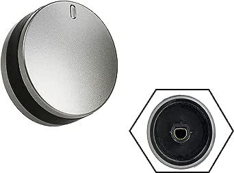 2 x ARGENTO//NERO manopola di regolazione Lamona Forno Fornello LAM3200 LAM3204 LAM3401