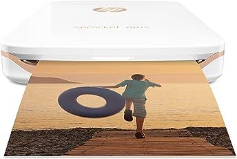 HP Sprocket Plus Stampante Fotografica Istantanea Portatile, Bianco (foto 5,8 x 8,6 cm)