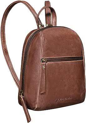 STILORD 'Lia' Mini Zaino Donna Pelle Vintage Zainetto Piccolo Backpack Pratico Elegante Daypack da Viaggio in Cuoio Autentico