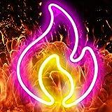 XIYUNTE LED Neonlicht Flamme Neon Signs Flamme Neon Schild, Batterie oder USB betrieben Flame Neon Light Schilder Feuer Neonz
