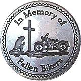 Pin de metal con insignia Fallen lost Biker Memorial (22 mm) AWOL Moto In Memory