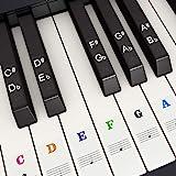 Pegatina de Piano Pegatinas de Teclados de Piano para 37, 49, 54, 61, 88 Teclas, Fansjoy Reemplazo Pegatinas Teclado de Piano