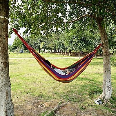 logei® Hängematte Einzel, Outdoors Camping Garten Strand Reise Leinwand Aufhängen von logei - Gartenmöbel von Du und Dein Garten