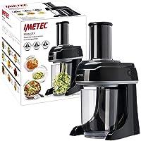 Imetec Sp 100 Spiralizer Électrique, Coupe-Légumes Spirale, Trancheuse à Légumes en 3 Formes, Lames en Acier Inoxydable…