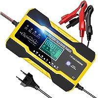 YDBAO Caricabatterie Auto Moto Caricabatteria Auto di Carica 10A 12V/24V Mantenitore di Carica Auto Moto con Schermo LCD…