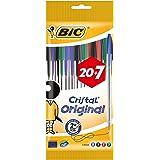 BIC Cristal Original Bolígrafos Punta Media (1,0 mm) – Colores Surtidos, Blíster de 20+7, para escritura suave, certificados