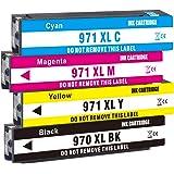 Jagute 970XL 971XL Cartucce Sostituzione per HP 970xl 970 971 XL Cartucce d'inchiostro per HP OfficeJet Pro MFP X576dw X551dw