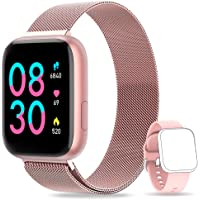 NAIXUES Connected Watch Women Men with Heart Rate Monitor and Blood Pressure Monitor ...