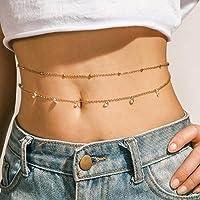 Larancie body chain oro crystal vita catena strass sexy belly waist chain bikini chain gioielli boho per donne e ragazze…