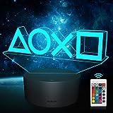 Illusion-Nachtlicht 3d, Playstation Lampe, 16 Farben Funktion-USB-Lade, Benutzt für Zimmer Deko, Kinder Männer Weihnachten Ha