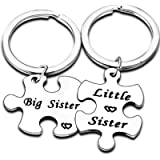 Sisters Gifts Big Sister Little Sister Matching Keychain Set Family Jewellery Gifts For Twins BBF Best Friends Gifts