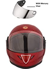 STARVIN RHHYN@X FULL FACE HELMET || RED COLOR || Medium Size || ISI APPROVED || WITH HYDROGRAPHICS || Unbreakable PC Mercury Visor with Double Layer Silicon Hardcore Coating || Scratch Resistant || MODEL- JETTY