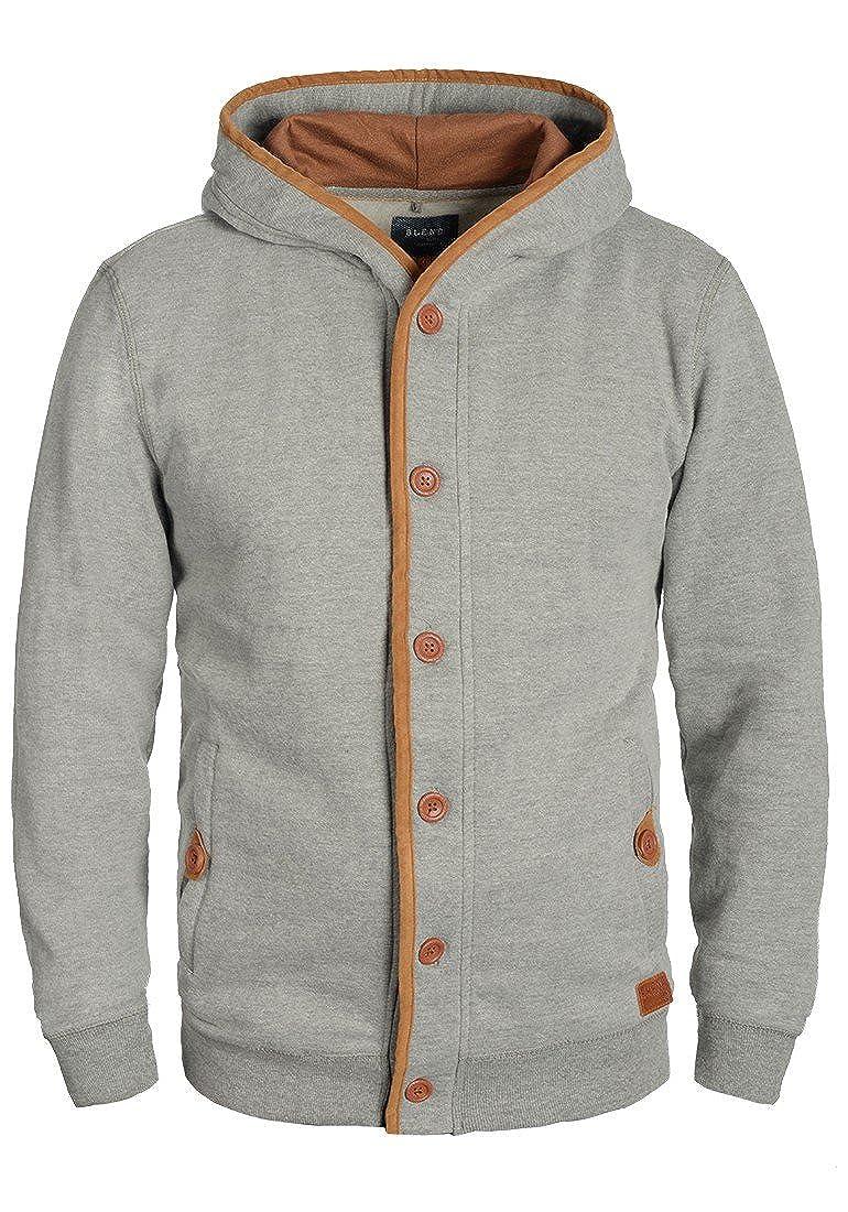 BLEND Alesso Herren Sweatjacke Jacke Zip-Hoodie mit Kapuze und optionalem  Teddy-Futter aus hochwertiger Baumwollmischung: Amazon.de: Bekleidung