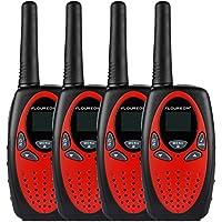 FLOUREON 4x sans Fil PMR 8canaux Talkie-Walkies 2Voies Radio Portée 3km Housse Interphone Radio écran LCD rétro-éclairage