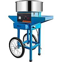 Machabeau Machine Barbe Papa Bleu 55 x 54 x 59 cm avec Chariot Professionnelle Puissance de Chauffage 1000 W Cotton…