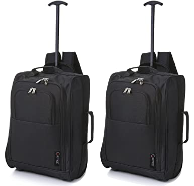 Set of 2 Wheeled Backpack Flight Approved Carry on Bag Massive 42 ...