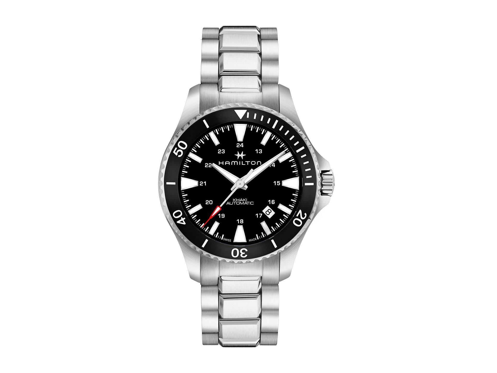Hamilton Khaki Navy Automatic Movement Black Dial Men's Watch H82335131