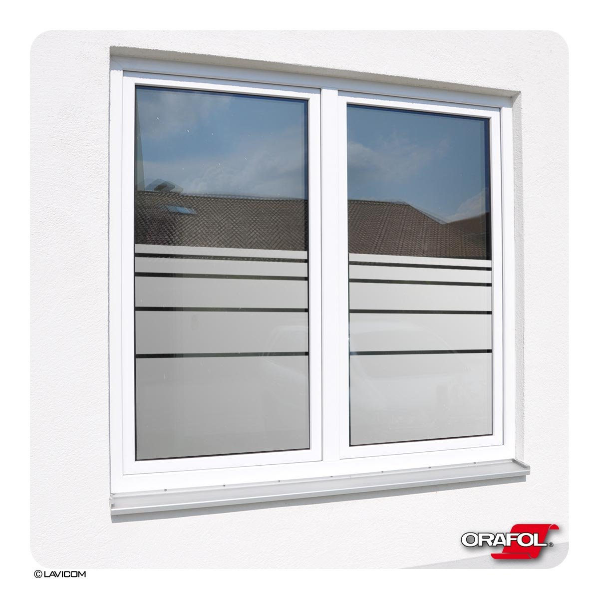 Sichtschutzfolie Fensterfolie Glasdekorfolie Dynamische Streifen