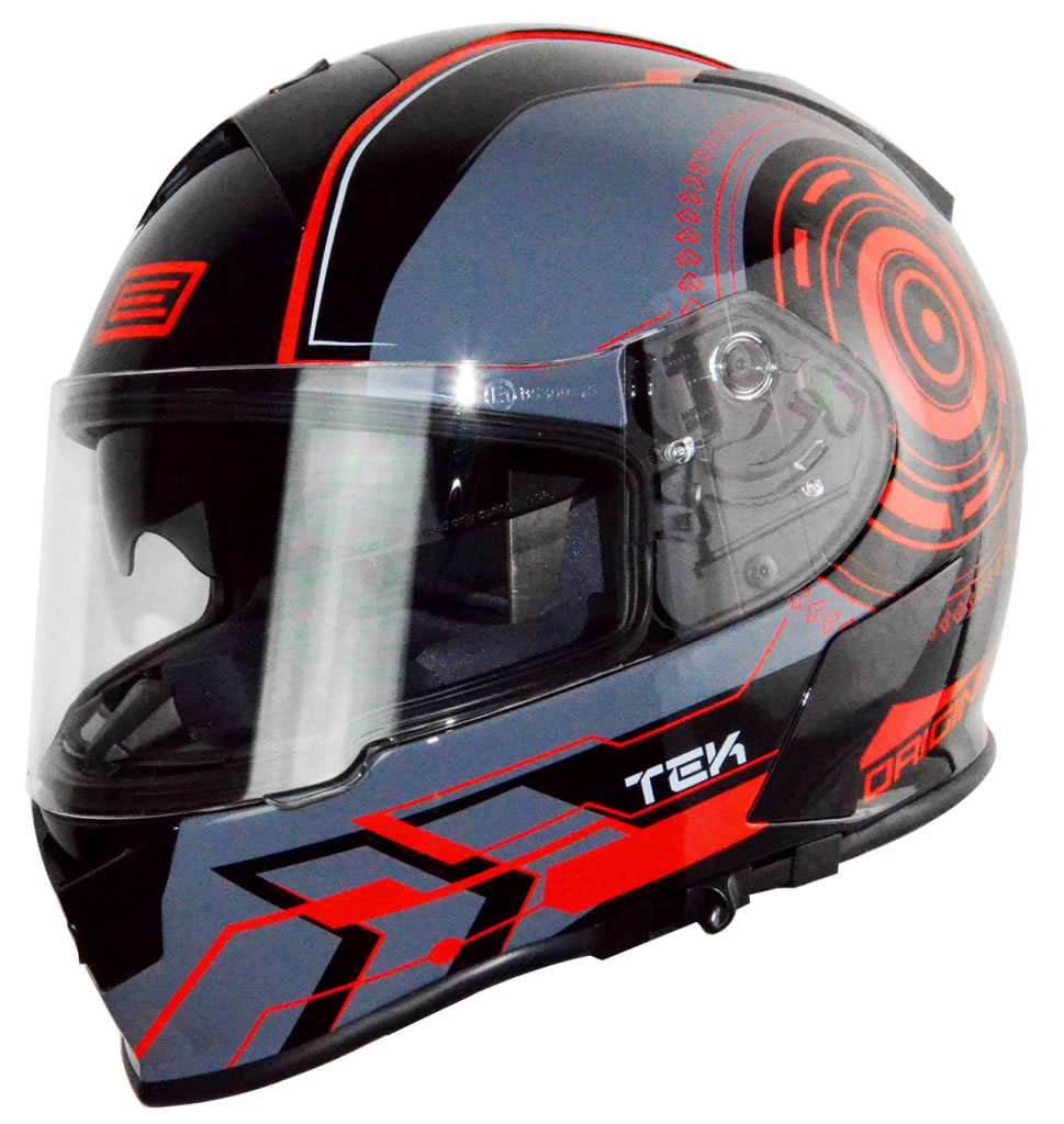 Origine Helmets 203126017400306 Casco GT Tek Rosso Fluo, XL