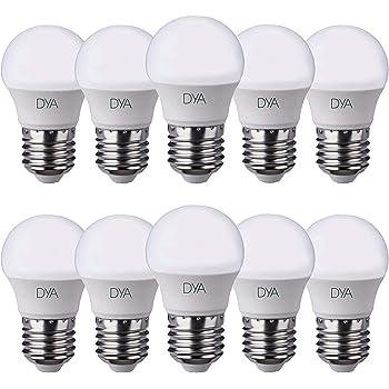 Juego de 10 Bombillas LED Bola G45 LED, 6 W, 570lumen, casquillo E27, luz natural 4000 K °
