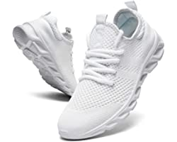 Women Trainers Running Tennis Casual Walking Sport Shoes Lady Gym Fitness Athletic Flat Slip on Outdoor Sneakers for Jogging