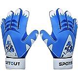 Sportout, guanti da portiere per bambini, ragazzi e ragazze, guanti da allenamento con doppia protezione per il polso e mater