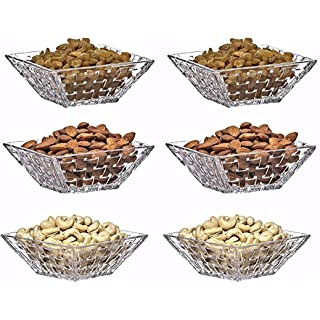 PRAX Designer Classic Crystal touch Bowls 6 pc